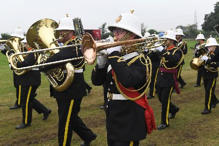 Romford British Legion marching band at Heckington Show.
