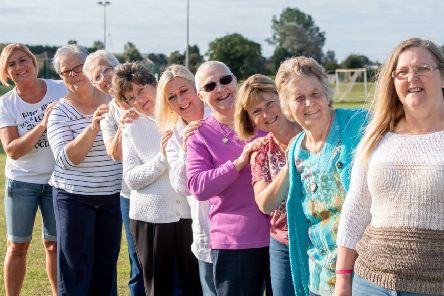 Pictured from left are Jane Reeson  (Wainfleet), Shirley Limb (Kirton), Margaret Bedford (Wainfleet), Mary Limb , Lorraine Hill (Horncastle), Joyce Waite (Boston), Hazel Holland (Butterwick), Barbara Limb (Coningsby)  and Vanessa Haw (Coningsby).