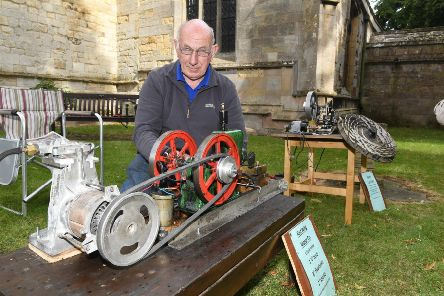 Heritage Open Day at Sibsey Church. Malcolm Smith of Sibsey with his model engines. EMN-190916-143519005