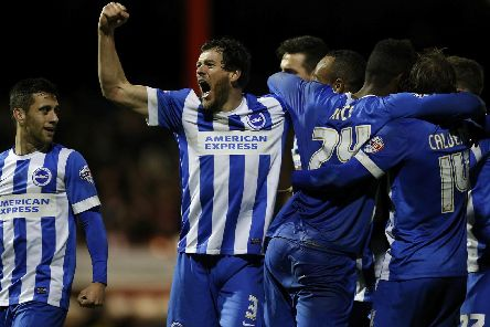 Gordon Greer celebrates a goal. Picture by Getty Images