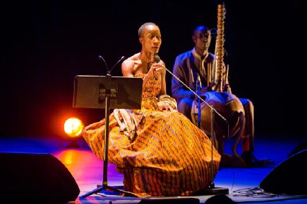Rokia Traor performing Dream Mand: Djata at the Theatre Royal, Brighton (Credit: Summer Dean)