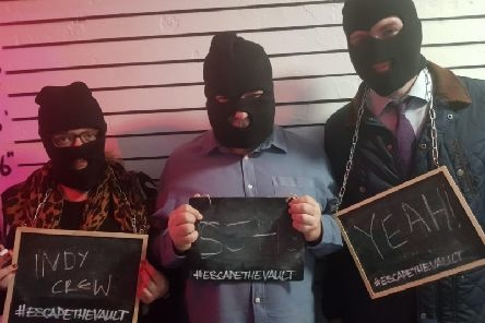 The Brighton Indy team escape the vault