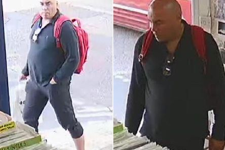 Sussex Police would like to speak to this man in connection with the thefts