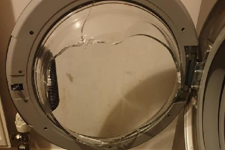 Emma said the washing machine 'completely exploded'.