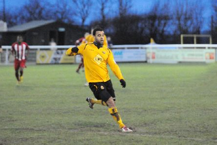 Moore produced a Man of the Match performance against Brackley on New Year's Day