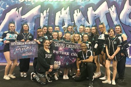 Team Apollo, of The Aylesbury Cheerleading Academy, in Milton Keynes