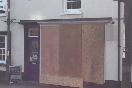 Willow Kitchens and Interiors is boarded up today (Monday) after a car hit a shop in Buckingham