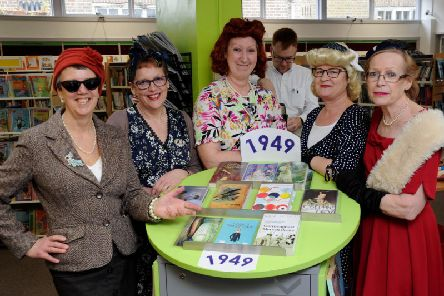Buckingham library staff celebrating its 70th anniversary just a few weeks ago