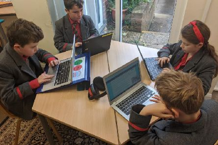 Pupils at Gateway School in Great Missenden learning through technology