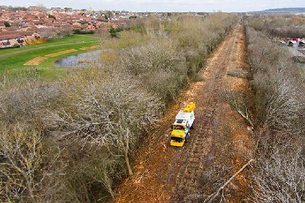 East West Rail route clearance work