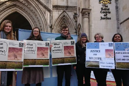 BBOWT Campaigners and staff at the Courts of Justice