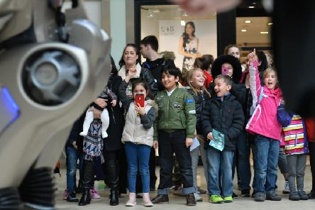 Titan got youngsters smiling during his visit to Aylesbury yesterday