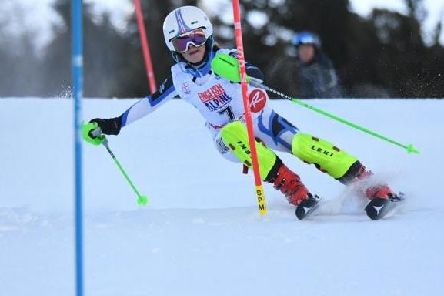Sophie Gibson in action on the slopes