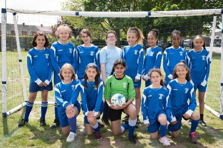 Haydon Abbey School's girls football team