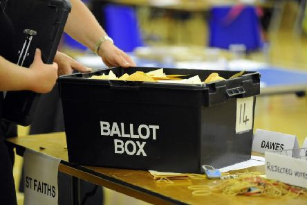 A ballot box containing votes from local elections. Picture: Malcolm Wells