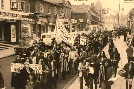 A protest on Aylesbury High Street