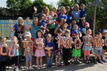 Pupils at Treehouse Pre-School in Winslow are celebrating following an Outstanding Ofsted report