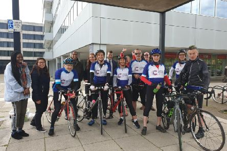 The team arrive at Hewitson's Milton Keynes office.