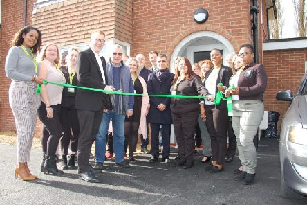 Councillor Warren Whyte cutting the ribbon at Aylesbury's new Children's Home