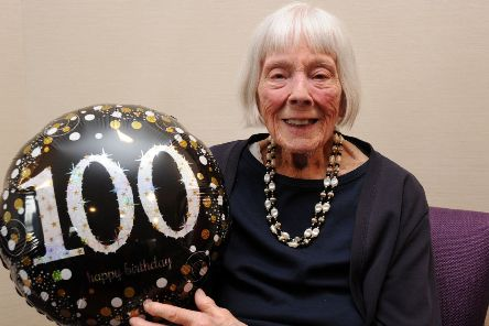 Nancy Pearce celebrates her 100th birthday at Avondale Care Home, Aylesbury. PNL-190706-174152009