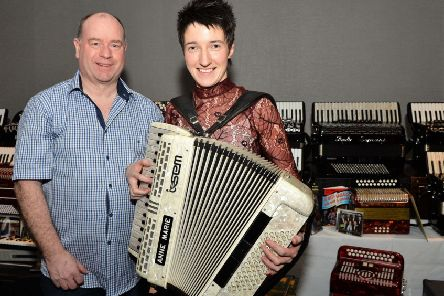 Sean O' Neil and Marie Devine attended the 21st NI Open Accordion Championships. INCT 08-004-PSB