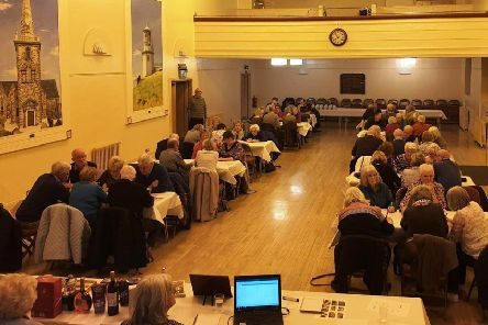 Local history enthusiasts taking part in the annual quiz at Carrickfergus Town Hall.