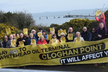 Opposition to Cloghan Point development plans.