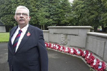 Alderman John Carson in the Memorial Garden, Ballymena.