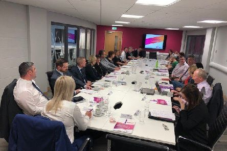 Participants in the Mid and East Antrim Council-led manufacturing taskforce.