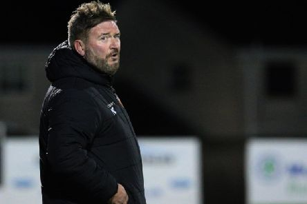 Carrick Rangers boss Niall Currie. Pic by Pacemaker.