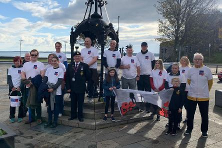 A short act of remembrance took place at the Big Lamp in Carrickfergus town centre.