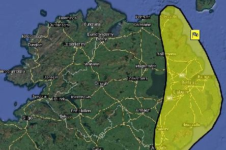 NI Weather & Flood Advisory Service warning for today