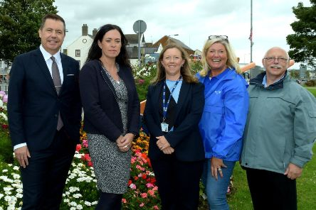 Judges meet with representatives from Carrickfergus and Mid and East Antrim Borough Council.