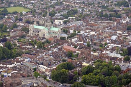 Aerial view of Chichester