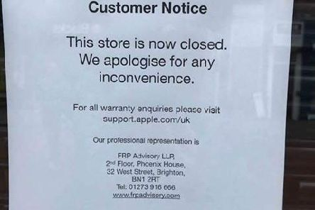 Sign on the store window