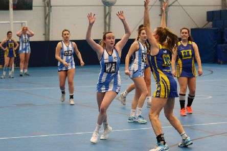 The University of Chichester's netball thirds take on St Mary's / Picture by Jordan Colborne