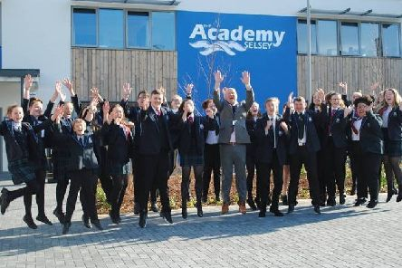 Students and staff at The Academy Selsey celebrate the 'fantastic' news