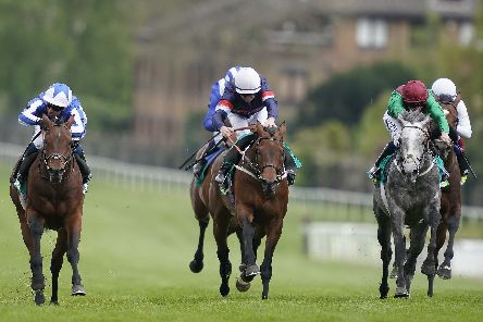 Technician, right, is second to Bangkok, left, in the Group 3 bet365 Classic Trial at Sandown in April. Picture: Alan Crowhurst/Getty Images
