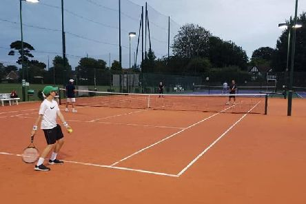 The new courts being put to good use