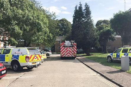 Emergency services at the scene on Sunday