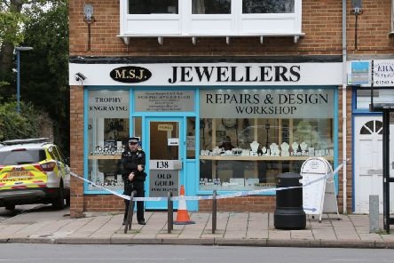 The scene in Selsey High Street following the incident