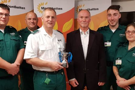 Medi4 Ambulance Services, proud recipient of Mountbatten hospice's special recognition award at the Walk the Wight Awards 2019