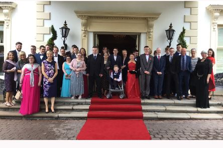 Pupils and staff from Sandelford School who attended the school formal in Galgorm resort.