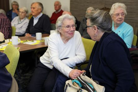 Members of Coleraine Macular Society Support Group pictured at one of their meetings