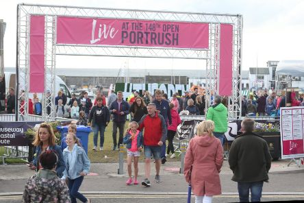 Large crowds pictuted during the Live at the 148th open Portrush