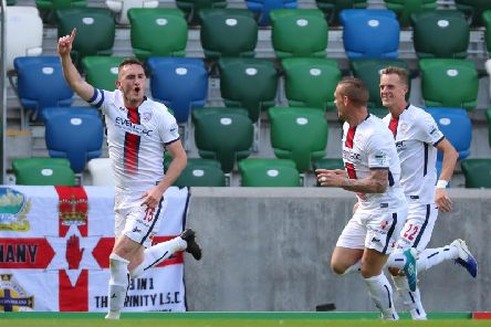 Stephen O'Donnell celebrates his goal