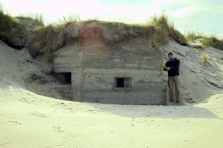 James O'Neill surveys one of the pillboxes