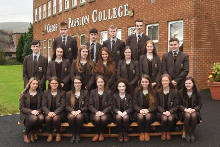Top Achievers in GCSE Examinations 2018: Pathway 1 Eoin Crawford, Caitlin Heggarty, Cealach O'Connor, Aine McKendry, Cara Casey, Ide Hughes, Amy Young, Ellie Glackin, John O'Kane, Connlaoth McTaggart, Enya McShane, Elena Morton, Emma McAfee and Claire McBride.'Pathway 2 Owen Magee, Kacee McKendry, Callum Butler, Caoimhe Butler and Clodagh O'Kane. Occupational Pathway Corey Campbell, Damian Quinn and Conor O'Mullan