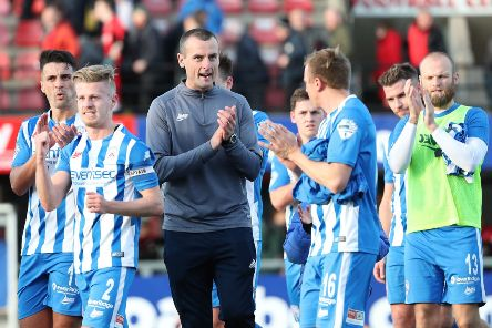 Coleraine manager Oran Kearney is expecting a tough test at Warrenpoint Town.  Photo by David Maginnis/Pacemaker Press