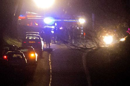 The emergency services on the  scene of the crash